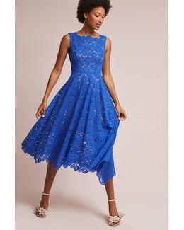 Cerulean Lace Midi Dress, Blue