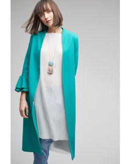 Alanis Frill Coat, Green