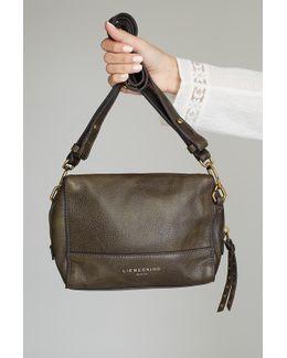 Leather Crossbody Bag, Moss