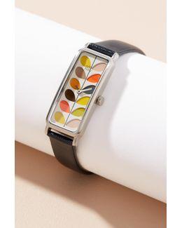 Raina Leather Watch