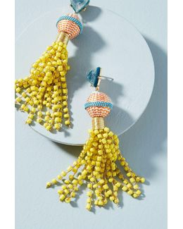 Sunshower Beaded Drop Earrings