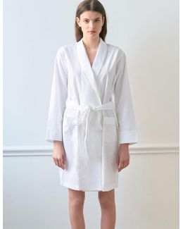 Kari Robe White Jacquard