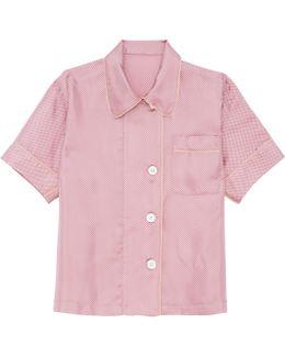 Shelby Pajama Top Praline Dot