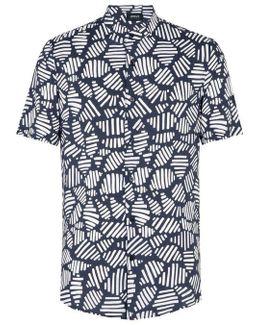 Mandarin Neck Printed Shirt