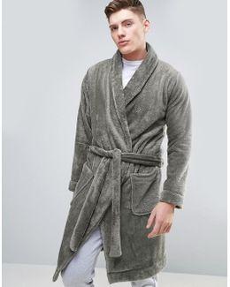 Fleece Shawl Neck Robe