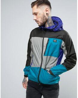 Cranford Hooded Jacket Color Block Hooded In Black