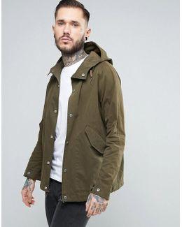 Davenport Hooded Jacket Showerproof In Green