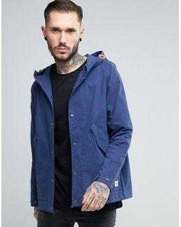 Davenport Hooded Jacket Showerproof In Navy