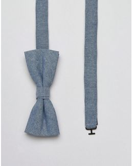 Bow Tie In Chambray