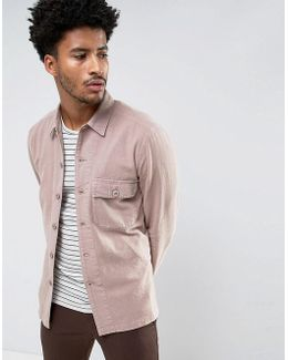 Worker Overshirt In Pink