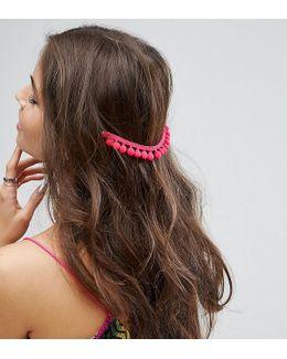 Pack Of 2 Pom Pom Back Hair Grips