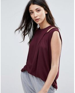 Drape Front Tunic Top