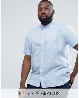 Plus Short Sleeve Shirt In Regular Fit