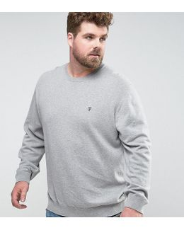 Plus Crew Neck Knitted Sweater
