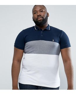 Plus Polo Shirt With Block Stripe