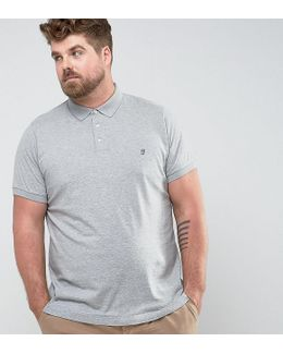 Plus Slim Fit Jersey Polo Shirt