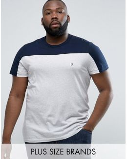 Plus T-shirt With Block Panel