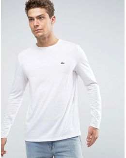 Long Sleeve Top Small Logo Regular Fit In White