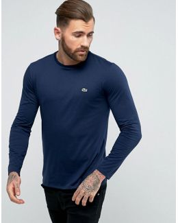 Long Sleeve Top Small Logo Regular Fit In Navy