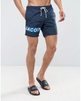 Leg Logo Swim Shorts In Navy