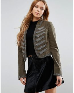 Embroidered Band Jacket