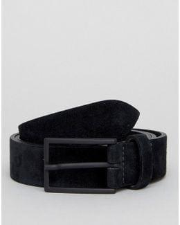 Smart Slim Suede Belt In Black