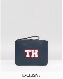 Exclusive Wristlet Clutch Bag In Navy