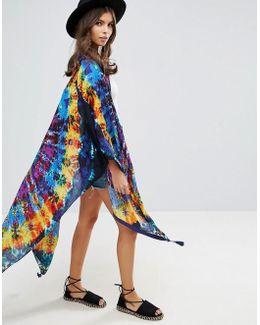 Tie Dye Kimono Cape