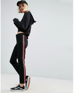Cigarette Trousers With Side Stripe