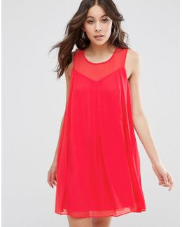 Bcbg Sheer Sweetheart Shift Dress