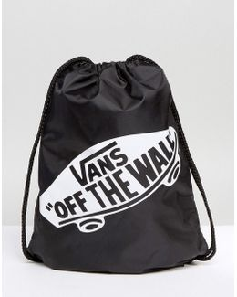 Off The Wall Drawstring Bag In Black