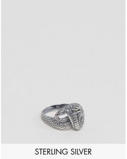 Snake Ring In Sterling Silver