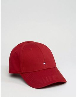 Classic Flag Baseball Cap Dark Red