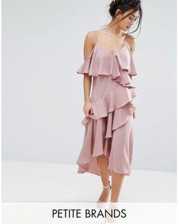 All Over Ruffle Detail Cami Maxi Dress
