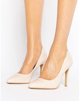 By Dune Alice Nude Patent Heeled Pumps