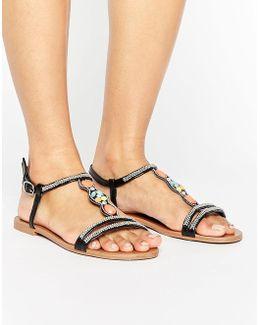 By Dune Lana Embellished Flat Sandal