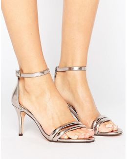 By Dune Mimosa Rose Gold Heeled Sandals