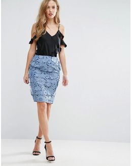 Manzoni Lace Skirt