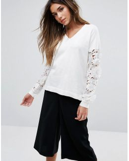 Manzoni Lace Knit Top