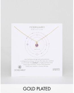 Amethyst February Birthstone Necklace