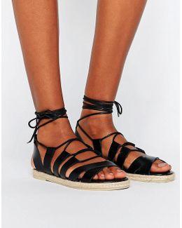 Louisa Leather Espadrile Sandals