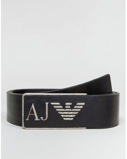 Logo Belt In Black