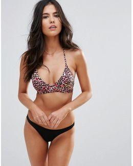 Leopard Print Cut Out Wrap Bikini Set