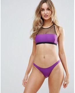 Mesh High Neck Bikini