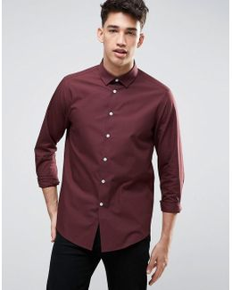 Regular Fit Shirt In Burgundy