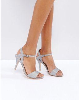 Silver Glitter Shoe