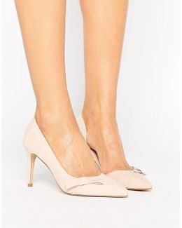 Blush Bow Court Evening Shoe