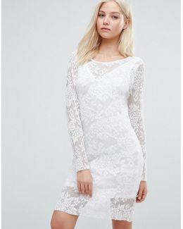 Long Sleeve Body-conscious Dress