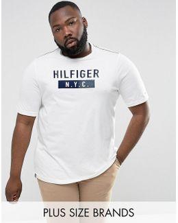 Plus Brad T-shirt Nyc Logo In White