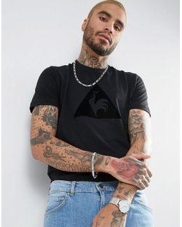 Essential Flock T-shirt In Black 1710345